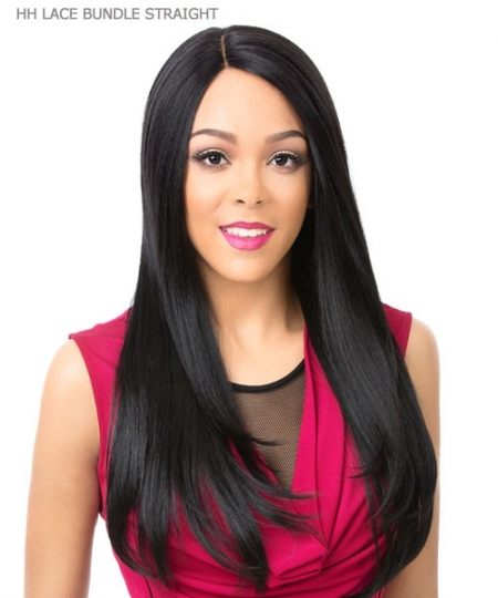 It's a wig Human Hair Blend QUALITY WIG Lace Front - HH LACE BUNDLE STRAIGHT