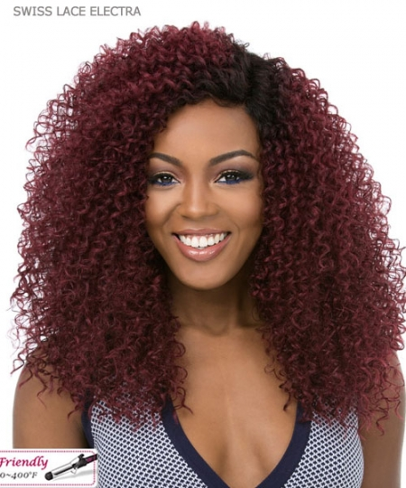 It's a wig Synthetic  Lace Front - SWISS LACE ELECTRA