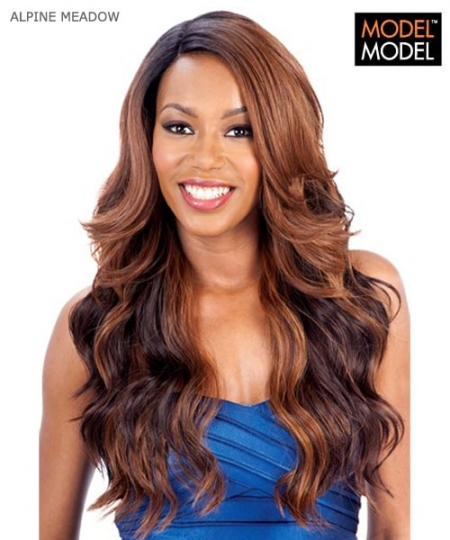Model Model  ALPINE MEADOW EQUAL DEEP INVISIBLE L-PART Synthetic Lace Front Wig