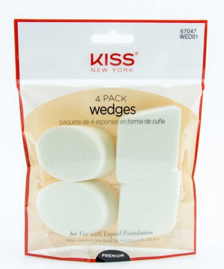 Ruby Kisses Wedge Sponge Makeup Applicator 4 pack