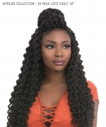 Sensationnel  Synthetic Braid - AFRICAN COLLECTION - 3X FAUX LOCS CURLY 18