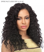 Sensationnel 3 pcs + closure Human Hair Weave Extention - EMPIRE MULTI LOOSE DEEP 141618