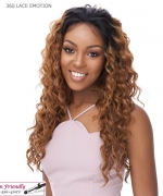 It's a wig Human Hair Blend   Lace Front - 360 LACE EMOTION