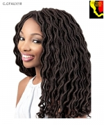 Motown Tress  C.CFAUX18  - Synthetic Crochet Featherlite Pre-Loop Curlfaux  Loc  Braid