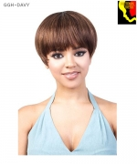 Motown Tress Full Wig GGH-DAVY - Human Hair GOGIRL CURLABLE WIG