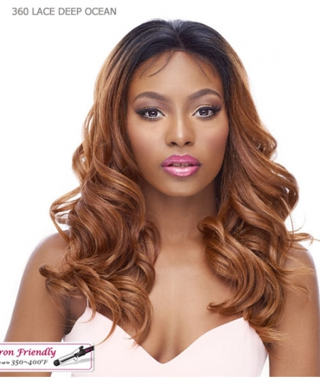 It's a wig Human Hair Blend   Lace Front - 360 LACE DEEP OCEAN