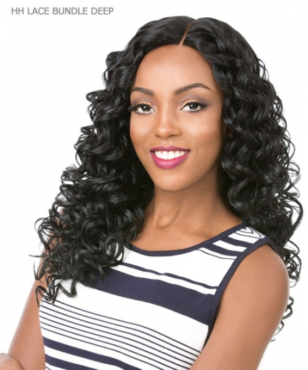 It's a wig Human Hair Blend  Lace Front - HH LACE BUNDLE DEEP