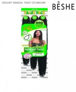 Beshe  Synthetic  Braid - CST.BRD18M Crochet Senegal Twist Multi  18