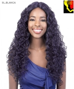 Motown Tress  SL.BLANCA - Synthetic HITEMP SWISS SILK Lace Front Wig