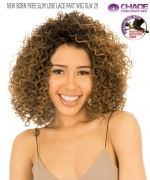 New Born Free Synthetic Lace Front Wig - SLIM LINE LACE PART WIG SLW29