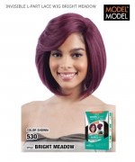 Model Model Synthetic Lace Front Wig - EQUAL DEEP INVISIBLE L-PART LACE WIG BRIGHT MEADOW