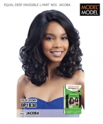 Model Model Synthetic Lace Front Wig - EQUAL DEEP INVISIBLE L-PART WIG  JACOBA