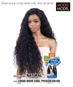 Model Model Human Hair Weave Extention - FRESH W & W LOOSE WAVE CURL 7PCS 26