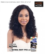 Model Model Human Hair Weave Extension - FRESH W & W NATURAL WAVY 7PCS 10
