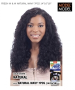 Model Model Human Hair Weave Extension - FRESH W & W NATURAL WAVY 7PCS 14