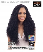 Model Model  Human Hair Weave Extension - FRESH W & W NATURAL WAVY 7PCS 18