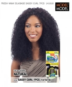 Model Model  Human Hair Weave Extension - FRESH W&W SILK BASE SASSY CURL 7PCS 14