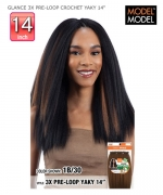 Model Model Synthetic Braid - GLANCE 3X PRE-LOOP CROCHET YAKY 14