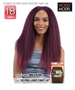Model Model Synthetic Braid - GLANCE 3X PRE-LOOP CROCHET YAKY 18