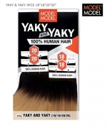 Model Model Human Hair Weave Extension - YAKY & YAKY 4PCS 18