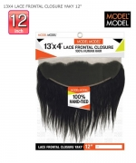 Model Model Human Hair Piece - 13X4 LACE FRONTAL CLOSURE YAKY 12