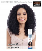 Model Model Weave Extention - INDIAN REMY DEEP 4PCS Remi Human Hair Weave Extention