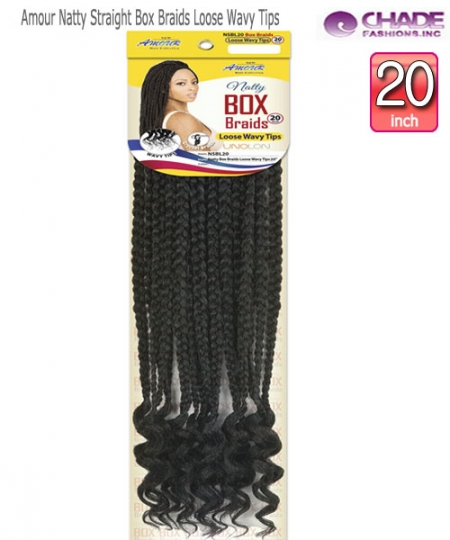 NEW BORN FREE Synthetic Hair Piece-Amour Natty Straight Box Braids Loose Wavy Tips 20""