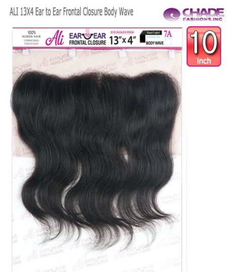 NEW BORN FREE Remi Human Hair Piece -ALI 13X4 Ear to Ear Frontal Closure Body Wave 10""