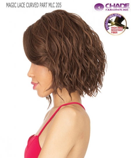 New Born Free Synthetic Lace Front Wig - MAGIC LACE CURVED PART MLC205