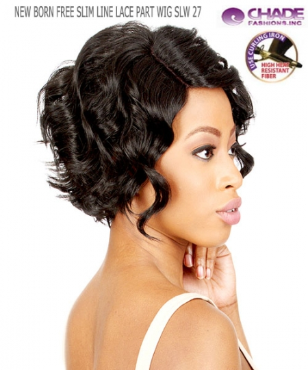 New Born Free Synthetic Lace Front Wig - SLIM LINE LACE PART WIG SLW27