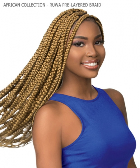 Sensationnel  Synthetic Hair Piece - AFRICAN COLLECTION - 3X RUWA PRE-LAYERED BRAID
