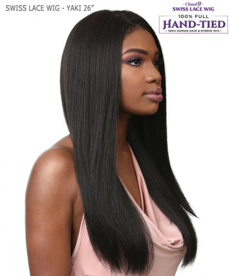 Sensationnel Human Hair Blend Cloud 9 Multi Parting Swiss Lace Wig - YAKI 26