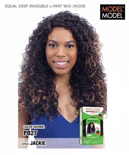 Model Model Synthetic Lace Front Wig - EQUAL DEEP INVISIBLE L-PART WIG  JACKIE