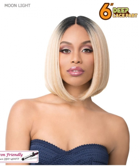 "It's a wig 6"" Deep Lace Part Synthetic Wig - MOON LIGHT"