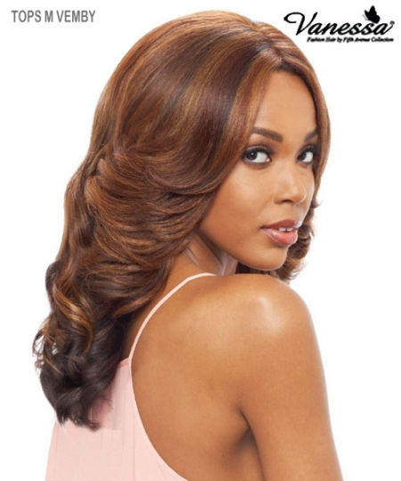 Vanessa Lace Front Wig  TOPS M VEMBY - Synthetic SUPER MIDDLE SWISS SILK Lace Front Wig