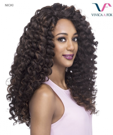 Vivica Fox  NICKI - Synthetic Invisible Side Part Lace Front Wig