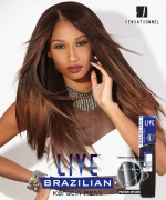 Sensationnel 100% Remi Human Hair Weave Extention - BRAZILIAN KERATIN REMI YAKI 20
