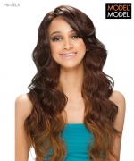 Model Model Lace Front Wig - MIKAELA NATURAL PART Futura Synthetic Lace Front Wig