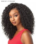 Sensationnel  Synthetic Hair Piece  African Collection - BRAID OUT 12 3PCS-SNAP