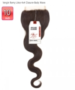 Sensationnel Remi Human Hair Weave - Bare&Natural Vergin Remy  4x4 Lace Closure - Body Wave 10