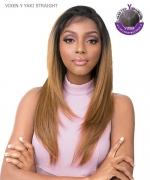 It's a wig Human Hair  Lace Front - VIXEN Y YAKI STRAIGHT