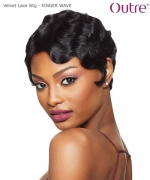 Outre Velvet Remi Human Hair Lace Front  Wig - FINGER WAVE