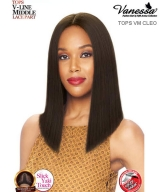Vanessa TOPS VM CLEO - Synthetic Express Swissilk Lace V-Line Middle Part  Lace Front Wig