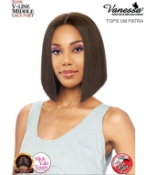 Vanessa TOPS VM PATRA - Synthetic Express Swissilk Lace V-Line Middle Part  Lace Front Wig