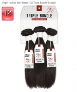 Sensationnel Bare&Natural Virgin Human Hair 7A Triple Bundle -Straight 12