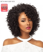 Sensationnel  Human Weaving Hair - Bare&Natural WET & WAVY DEEP 10S 3PCS