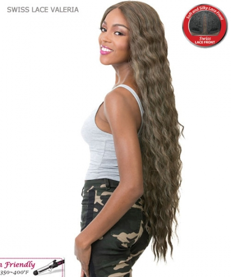 It's a wig Synthetic IRON FRIENDLY Lace Front Wig - SWISS LACE VALERIA