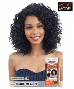 Model Model Synthetic Deep Invisible L Part  Wig - BLACK MEADOW