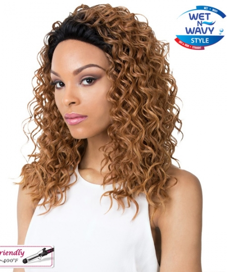 It's a wig Synthetic Wet N Wavy Lace Front Wig - SIMPLY 2020 LACE NORTH