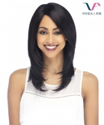 Vivica Fox Remi Human Hair Invisible Side Part Lace Front Wig - SEDONA